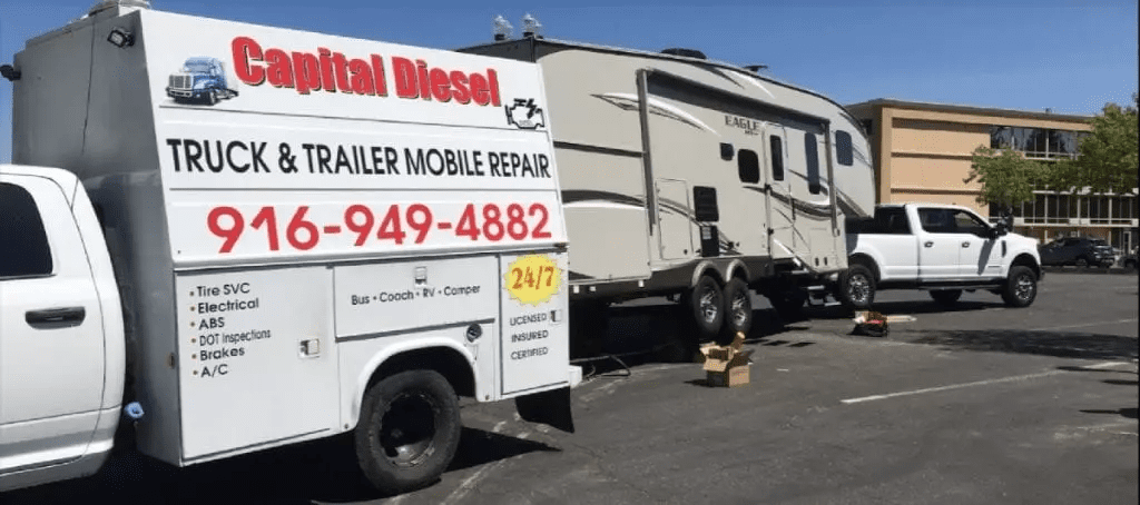 Capital Diesel provides 24/7 mobile truck and RV repair to Sacramento drivers